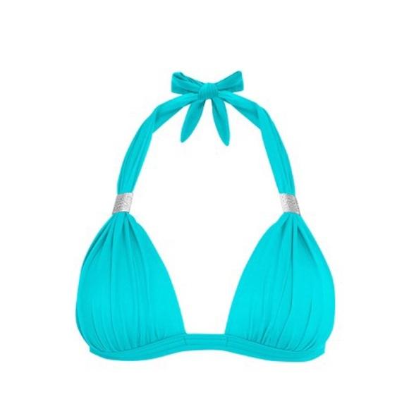 d717ade6ae5e7 Goddess Enhancer Push Up Halter Swim Bikini Top. M 5c3bf77745c8b3a892720411